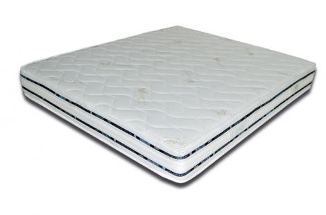 Materasso in poliuretano espanso ad acqua alta densità tessuto aloe e argento